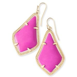 Kendra Scott Alex earring gold and magenta pink